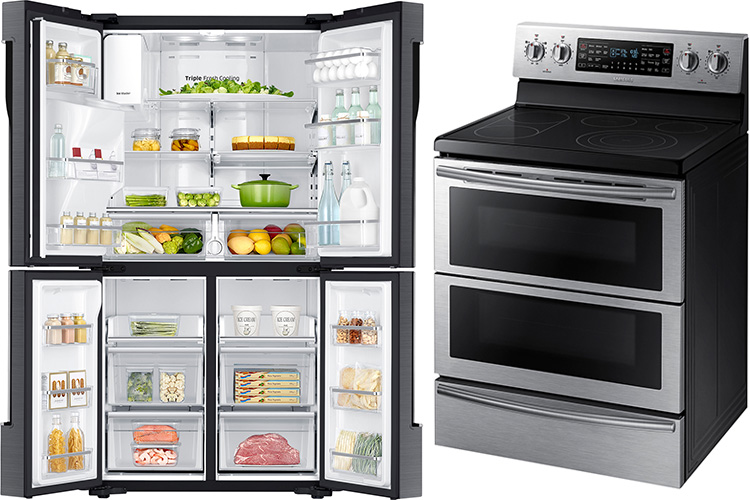 Home | Technology | The Samsung Open House at Best Buy stores has a great selection of kitchen appliances and more. Use these deals to save on the new 4-Door Flex refrigerator and Flex Duo Range.