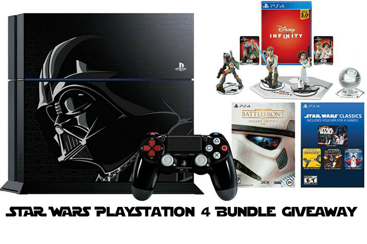 Video Games | Limited edition Darth Vader PS4 / Playstation 4 giveaway with Battlefront game or disney infinity 3.0