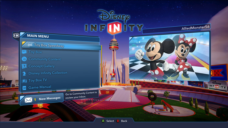 Video Games | Technology | Enjoy your Disney, Pixar, Marvel, and Star Wars character figures in the new Disney Infinity 3.0 Expansion Games. Toy Box Speedway is a racing game and Toy Box Takeover has missions to complete.