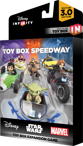 Video Games | Technology | Enjoy your Disney, Pixar, Marvel, and Star Wars character figures in the new Disney Infinity 3.0 Expansion Games. Toy Box Speedway is a racing game.