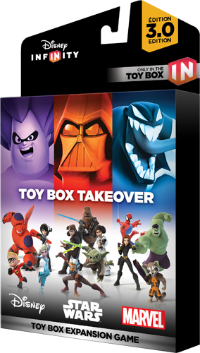 Video Games | Technology | Enjoy your Disney, Pixar, Marvel, and Star Wars character figures in the new Disney Infinity 3.0 Expansion Games. Toy Box Takeover has missions to complete.