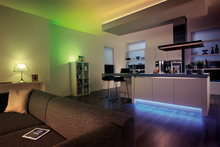 Electronics | Technology | Home Decor | The Philips hue LED White and Color Ambiance lighting system lets you customize the lights to fit or create the mood. See the video of how cool it actually be!