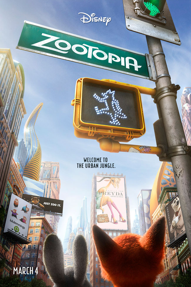 Movies | Animation | Zootopia is the 55th animated film from Walt Disney Studios and will be in theaters starting today, March 4, 2016. See Judy Hopps, Nick Wilde, and more as they solve a major mystery. Check out our Zootopia movie review for families and take everyone to see it today!