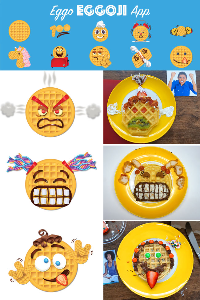 Food | Technology | Kellogg's has been making Eggo waffles at the Eggo headquarters in San Jose, CA for years but no one has been invited for a behind-the-scenes factory tour. Join my daughter and me as we learn more about Eggo and build our own Eggoji creations in honor of the new app! So fun — Eggo + emoji = Eggoji!