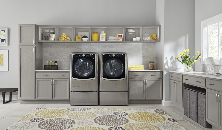 Home | Technology | Cleaning | New ENERGY STAR Certified washers and dryers can save the earth when it comes to consuming less energy and water. Models like the LG Twin Wash and Sidekick from Best Buy can also save you time and money by washing two loads at once.