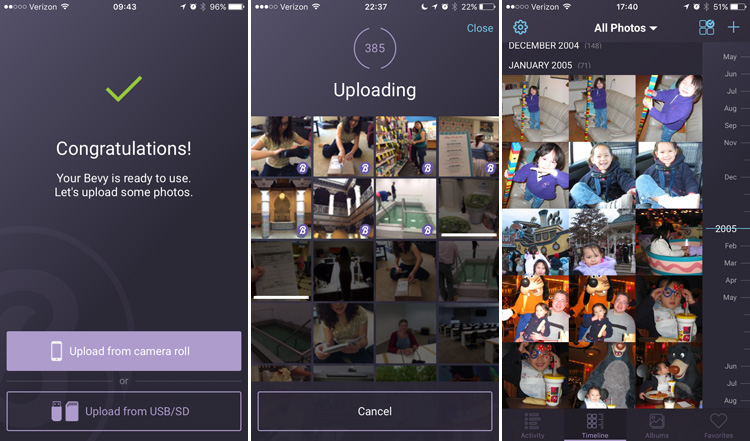 Technology | Family | Now there's an easy way to manage your digital photos. Bevy makes photo storage and organization easy yet secure. Use this device at home, share access with family and friends, or access your pictures remotely. See how it works here. Bevy mobile app