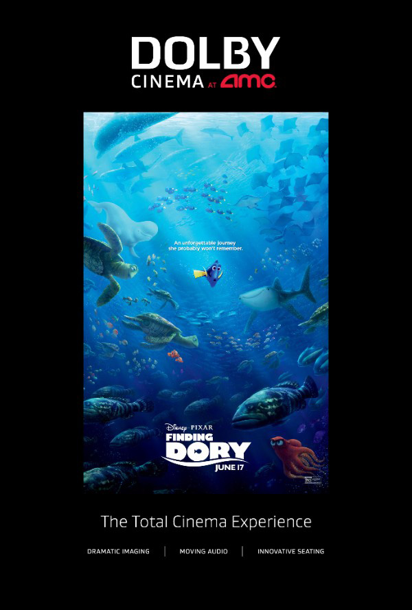 Movies | Enter to win a family four pack of tickets (2 winners) to see Finding Dory at the Dolby Cinema at AMC in Newark, CA on June 18, 2016.