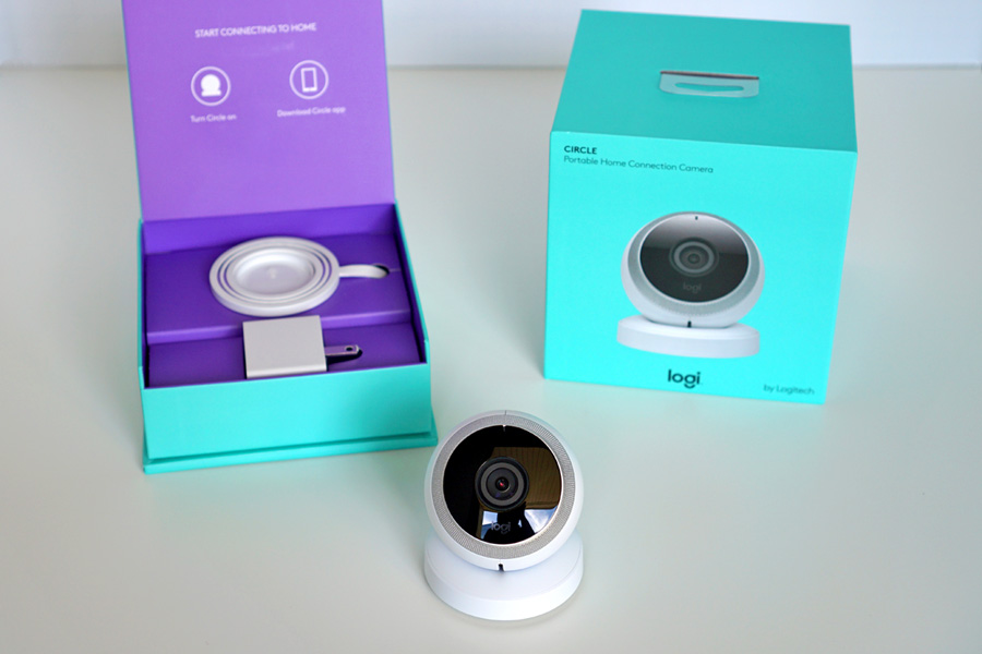 Cookies & Clogs | Technology | The Logi Circle from Logitech is a fantastic wireless video monitoring camera to keep an eye on the house, the kids, and your pets. Check out the easy 6-step setup process and the amazing audio and video quality.