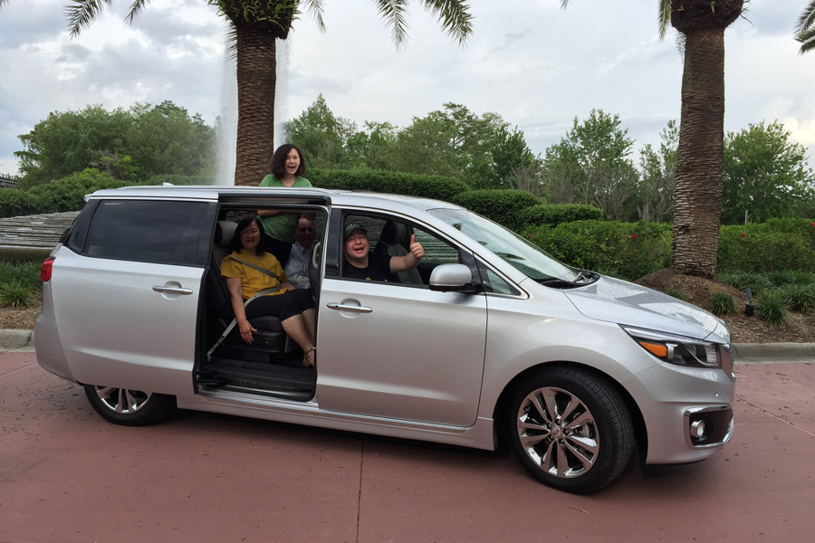 Cookies & Clogs | You don't NEED a car at Walt Disney World but it sure can be nice. We had the 2016 Kia Sedona and it was perfect for our multi-generational party of five.