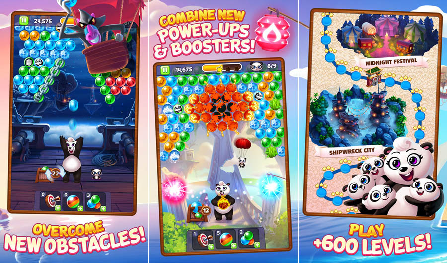 Mobile apps | Technology | Panda Pop is the new bubble shooter from SGN, makers of Cookie Jam. Get the scoop on gameplay, obstacles, levels, and power ups with the mama panda and panda babies in this free mobile game app.