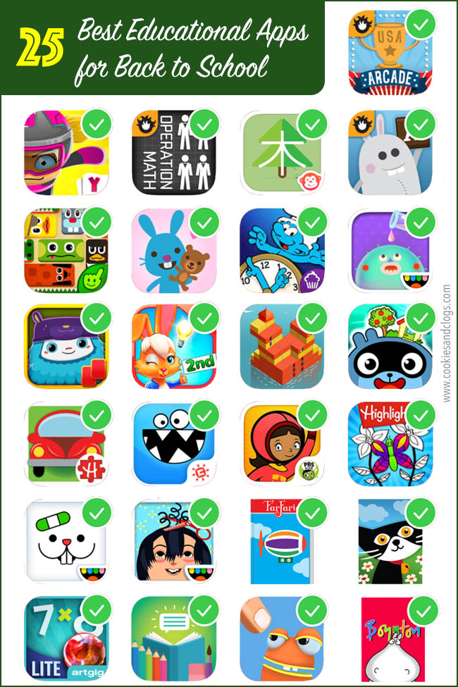 Cookies & Clogs | Technology | Education | Looking for fun mobile apps for the kids in which they'll learn too? Check out these 25 best educational apps for back to school using the Samsung Kids service. Apps are sorted by subject and suggested age range and are for elementary grade level students.
