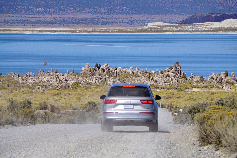 Cookies & Clogs | Cars | The 2017 Audi Q7 is loaded with features and is a perfect SUV for families. See which features work and which don't in this 2017 Audi Q7 review. Family road trip to Mono Lake, California