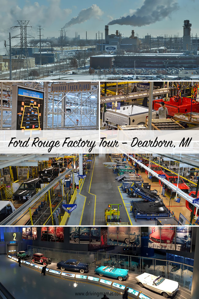The home of the award-winning Ford F-150 is in Dearborn, Michigan. See details and prices of the family friendly Ford Rouge Factory tour. Check out the working automotive manufacturing plant, mini museum, historical film, and virtual show with lasers and special effects.