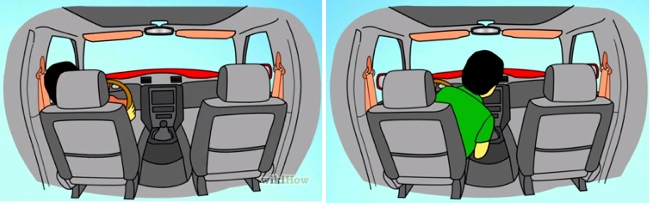 How to adjust your side-view mirrors to avoid blind spots infographic #Cars