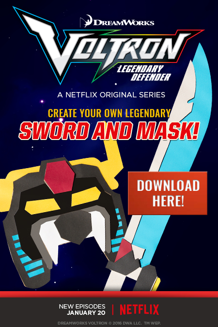 Cookies & Clogs   Voltron Legendary Defender is a Netflix Original Series. See our family-friendly review of the show and find out when Voltron Legendary Defender season two will be available to watch. DIY craft — Sword and Mask.