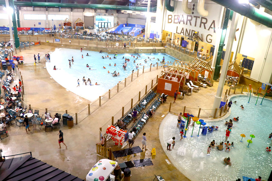 Cookies & Clogs | Great Wolf Lodge in Garden Grove, CA indoor water park review with information on activities, dining, lodging, shopping, and more. Indoor water park overview.