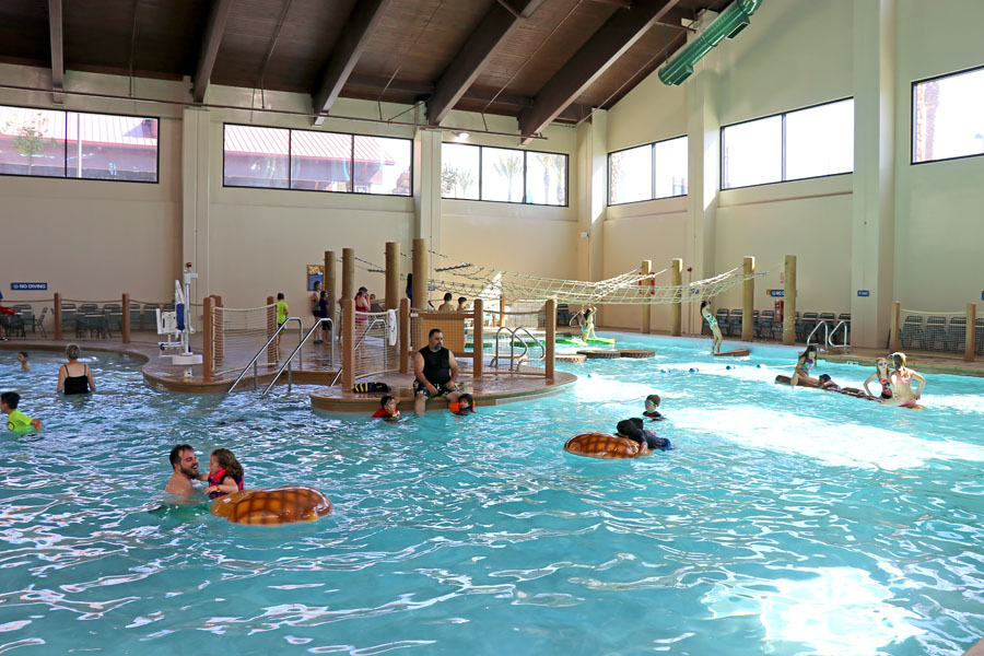 Cookies & Clogs | Great Wolf Lodge in Garden Grove, CA indoor water park review with information on activities, dining, lodging, shopping, and more. Activity pool