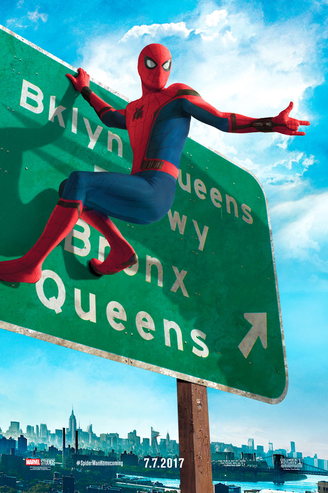 Cookies & Clogs | Exclusive Marvel Spider-Man Homecoming Interview with Tom Holland and Jacob Batalon during set visit in Atlanta, GA. New York highway sign poster