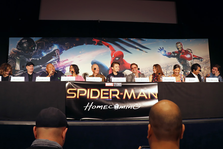Cookies & Clogs | First-Cookies & Clogs | First-hand footage from Marvel's Spider-Man Homecoming Press Junket / Conference in New York, NY at the Whitby Hotel on June 25, 2017 with Tom Holland, Robert Downey Jr., Michael Keaton, Zendaya, Kevin Feige, Jon Watts, and more.