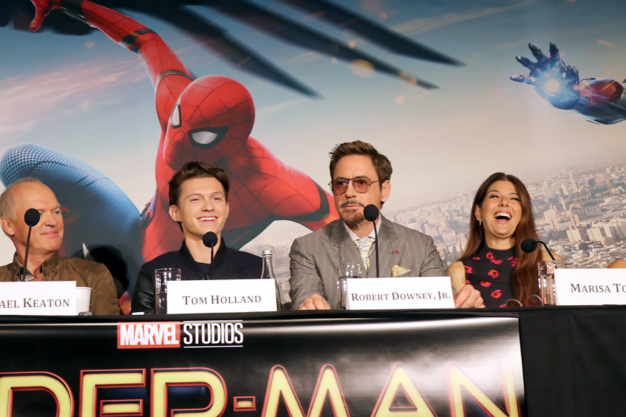 Cookies & CCookies & Clogs | First-hand footage from Marvel's Spider-Man Homecoming Press Junket / Conference in New York, NY at the Whitby Hotel on June 25, 2017 with Tom Holland, Robert Downey Jr., Michael Keaton, Zendaya, Kevin Feige, Jon Watts, and more.
