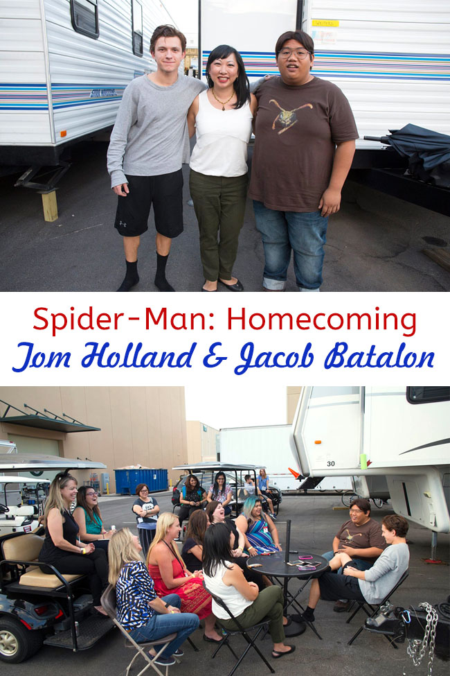 Cookies & Clogs | Exclusive Marvel Spider-Man Homecoming Interview with Tom Holland and Jacob Batalon during set visit in Atlanta, GA.