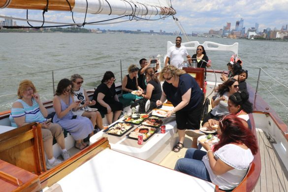Cookies & Clogs | Spider-Man Homecoming media weekend and boat photo tour around New York City on the Hudson River.