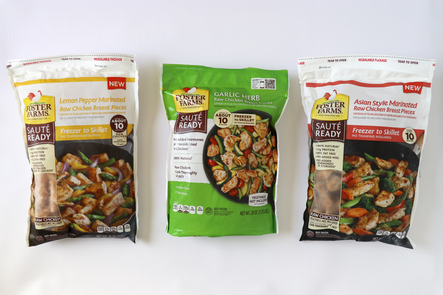 Foster Farms Sauté Ready Chicken Easy Dinners