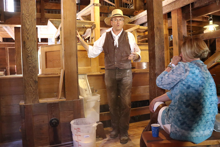 11 Things to Do in Napa, CA that Don't Involve Drinking Wine - Bale Grist Mill Flour Grinding Demo with Miller