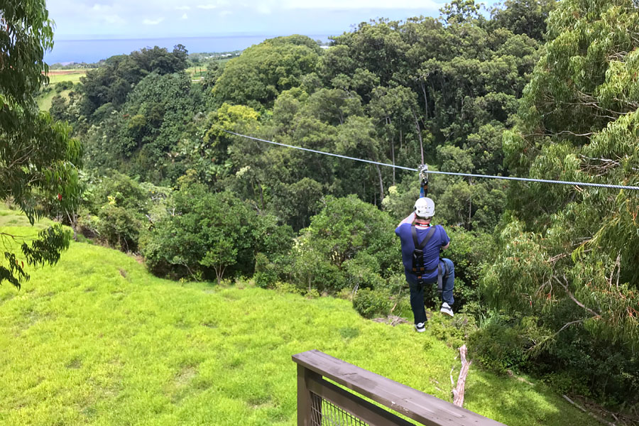 Things to do on the Big Island of Hawaii | Zipline near Akaka Falls Hilo with Eco Skyline Adventures