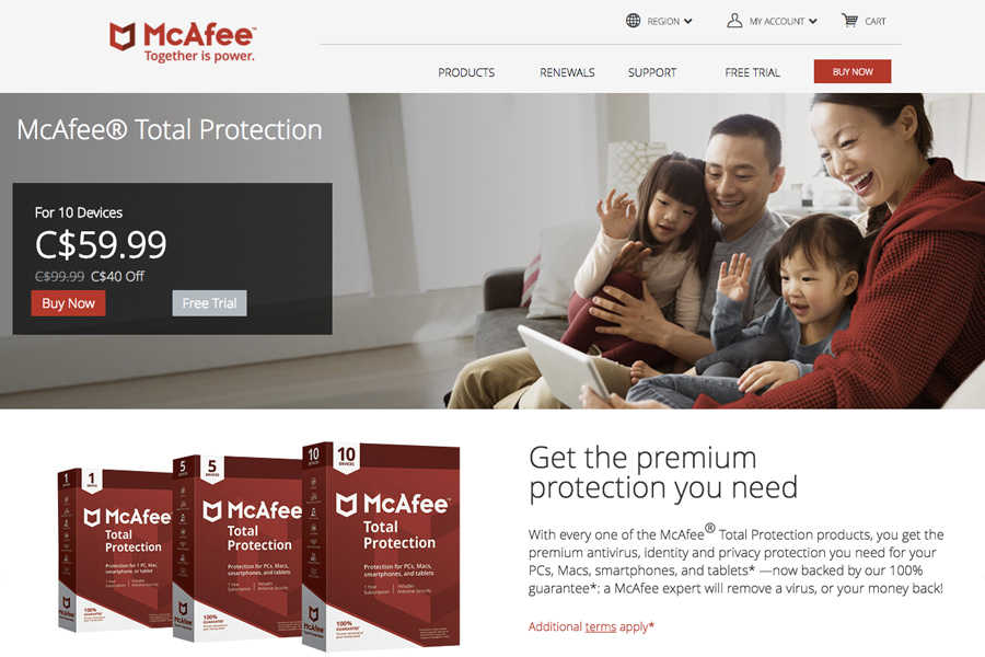 McAfee Total Protection Cyber Safety to protect teens online at high school