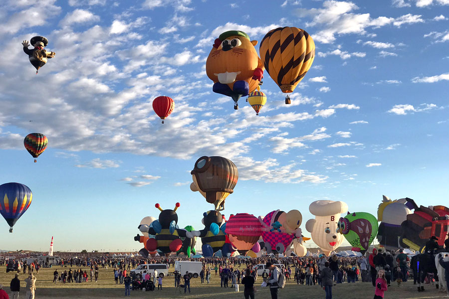 2017 Albuquerque International Balloon Fiesta in New Mexico Special Shape Rodeo