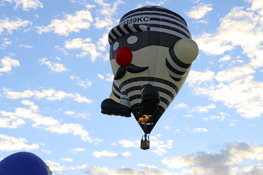 2017 Albuquerque International Balloon Fiesta in New Mexico Special Shapes Rodeo Robber