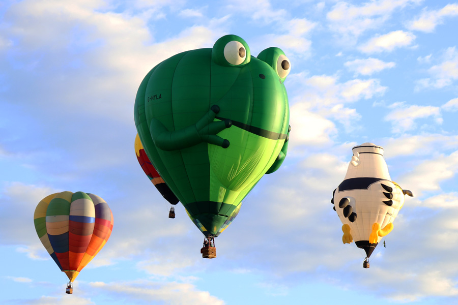 2017 Albuquerque International Balloon Fiesta in New Mexico Special Shapes Rodeo Frog