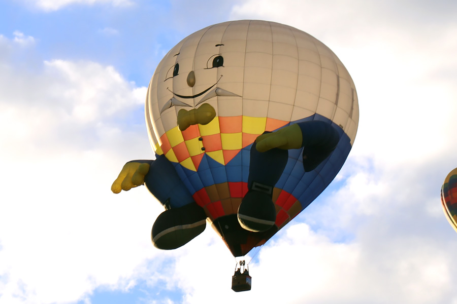 2017 Albuquerque International Balloon Fiesta in New Mexico Special Shapes Rodeo Humpty Dumpty