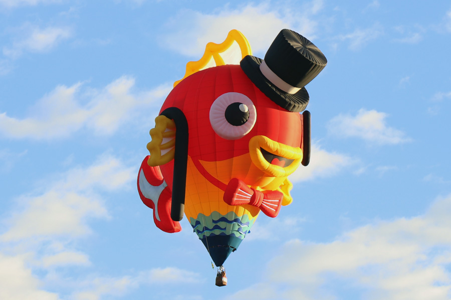 2017 Albuquerque International Balloon Fiesta in New Mexico Special Shapes Rodeo Tuxedo Fish