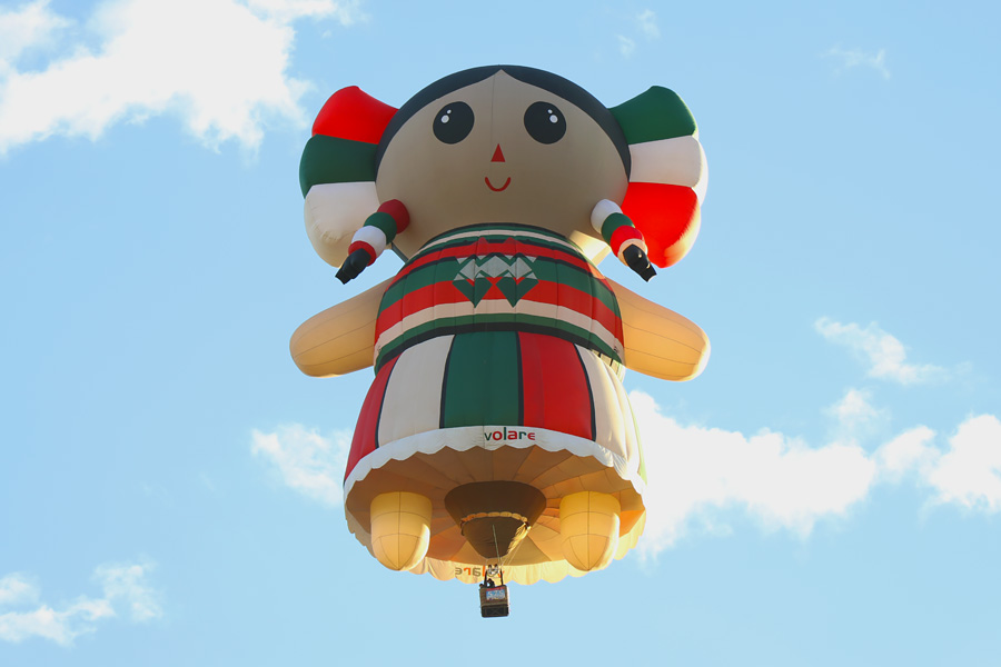 2017 Albuquerque International Balloon Fiesta in New Mexico Special Shapes Rodeo Hispanic Doll