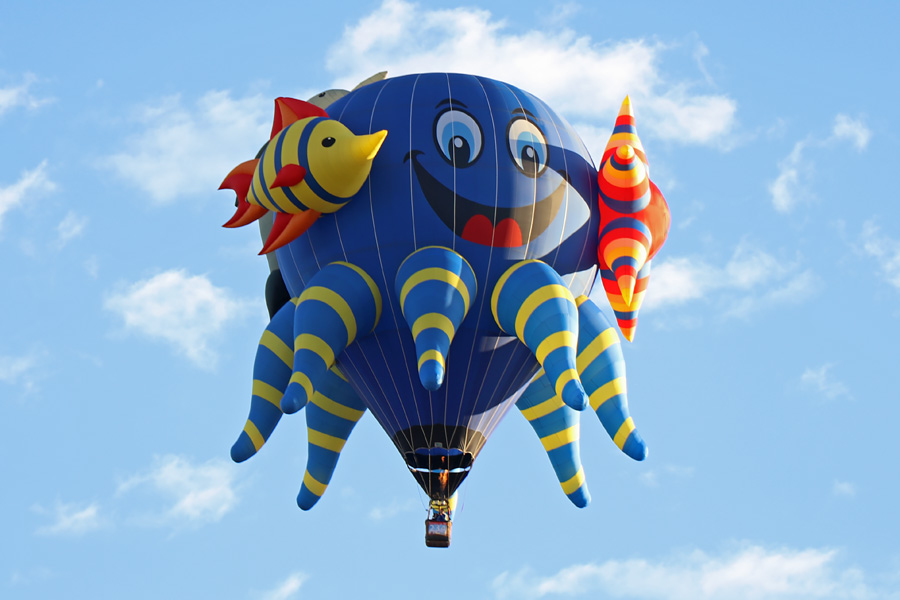 2017 Albuquerque International Balloon Fiesta in New Mexico Special Shapes Rodeo Under the Sea Octopus