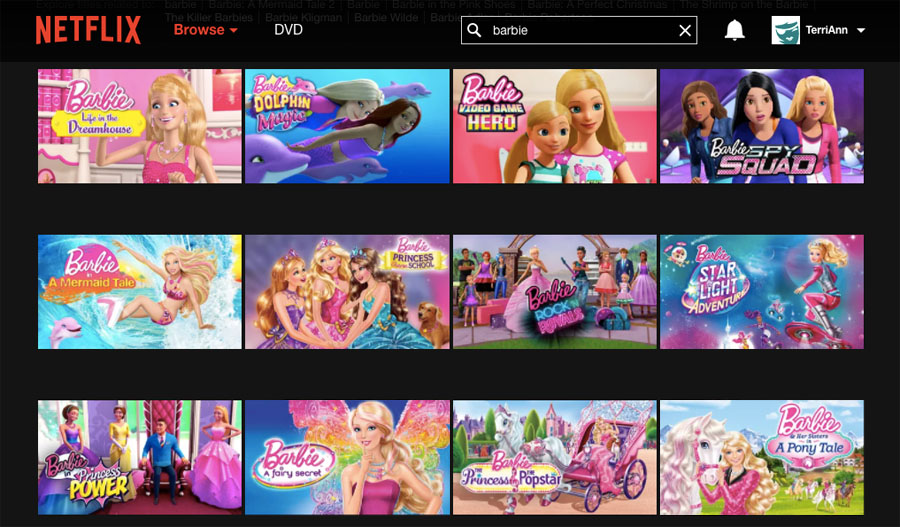 Adulting, self-control and family friendly shows like Barbie on Netflix