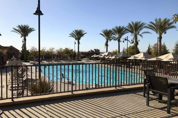 Pool at Whitney Ranch New Home Community in Rocklin, CA