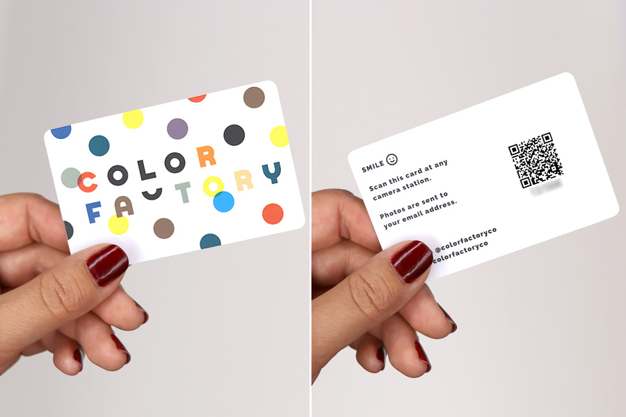 Color Factory in San Francisco, CA. Photo station card