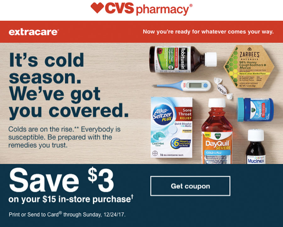 CVS Pharmacy cold season immune boosters, remedies, and cold medicine.
