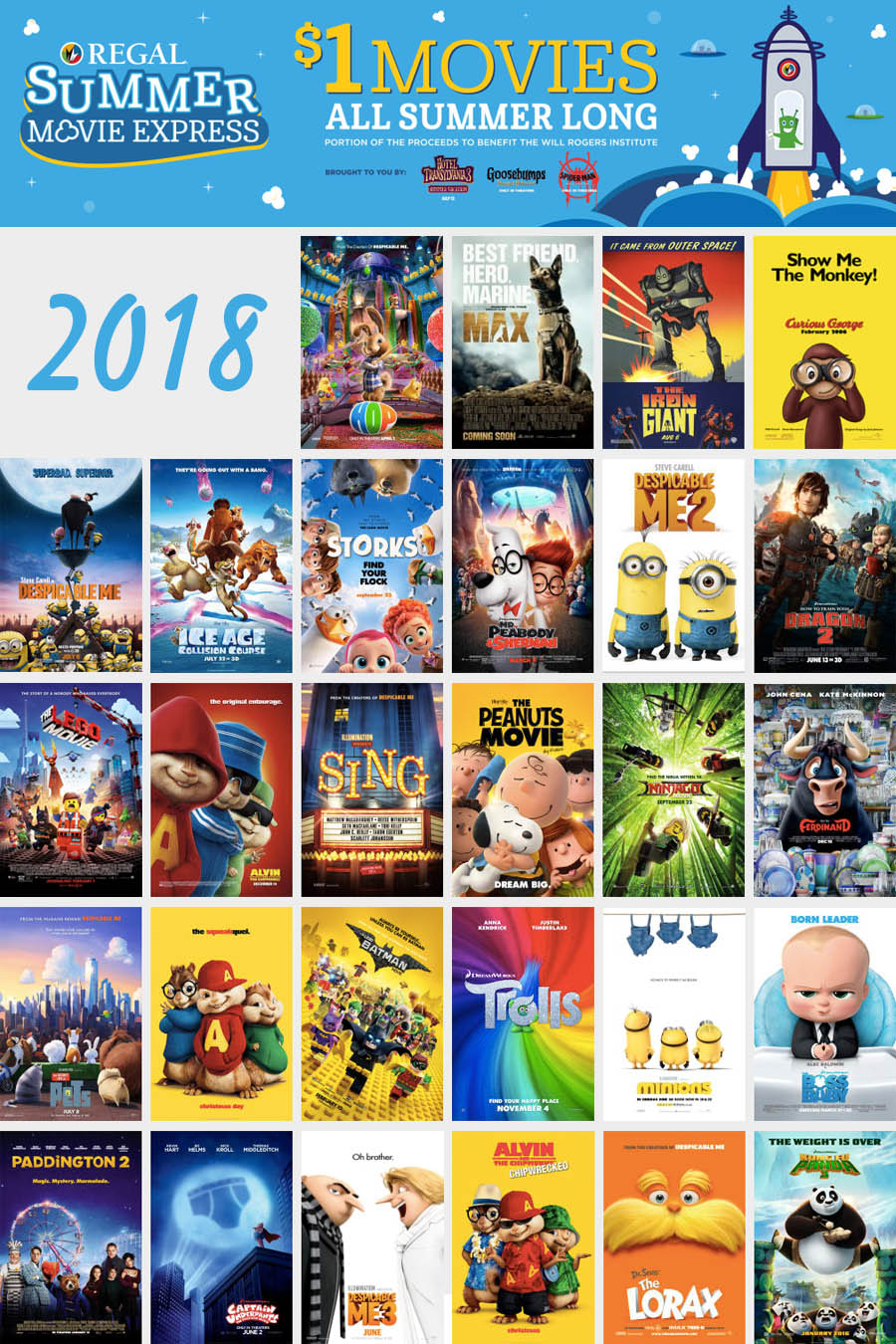 2018 Summer Movie Deals — Regal Summer Movie Express