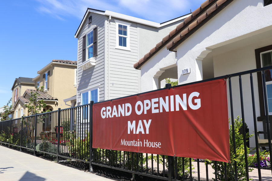 May 2018 Grand Opening of New Homes in Mountain House, CA — Woodside Homes, Signature Homes, and Richmond American Homes neighborhoods and model homes to tour.