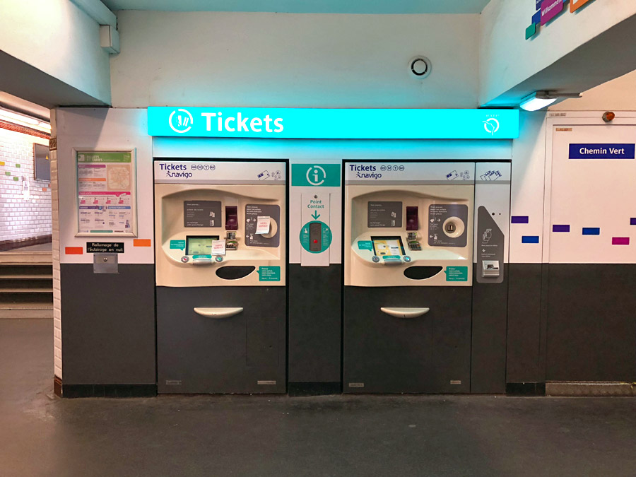 Paris Metro & Bus Public Transportation Guide: Ticket vending machines - see video tutorial.