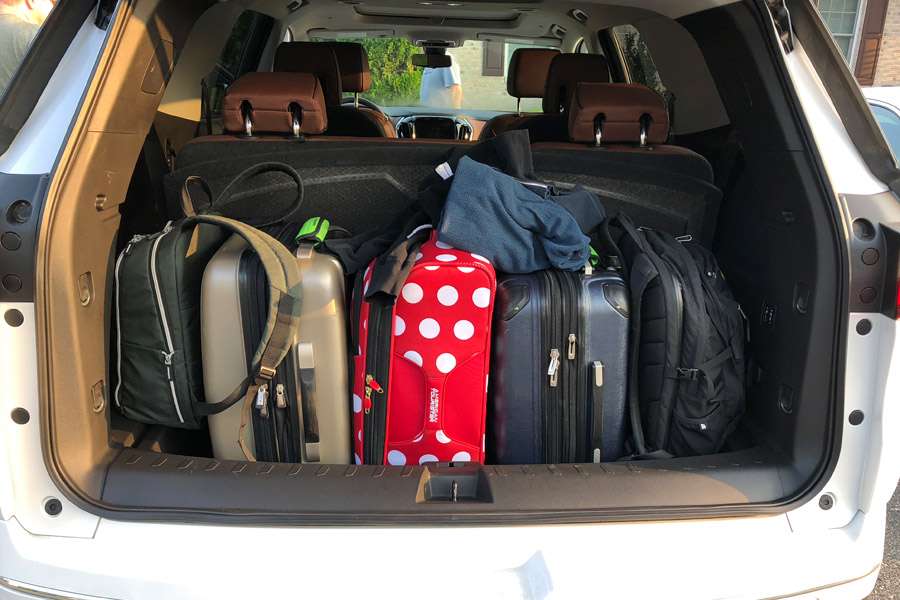 Check out some travel ideas for day trips near Boston Massachusetts and New England road trips. Also, see how the 2018 Chevy Traverse handles a seven-state family road trip in this car review. Suitcases fit in cargo area