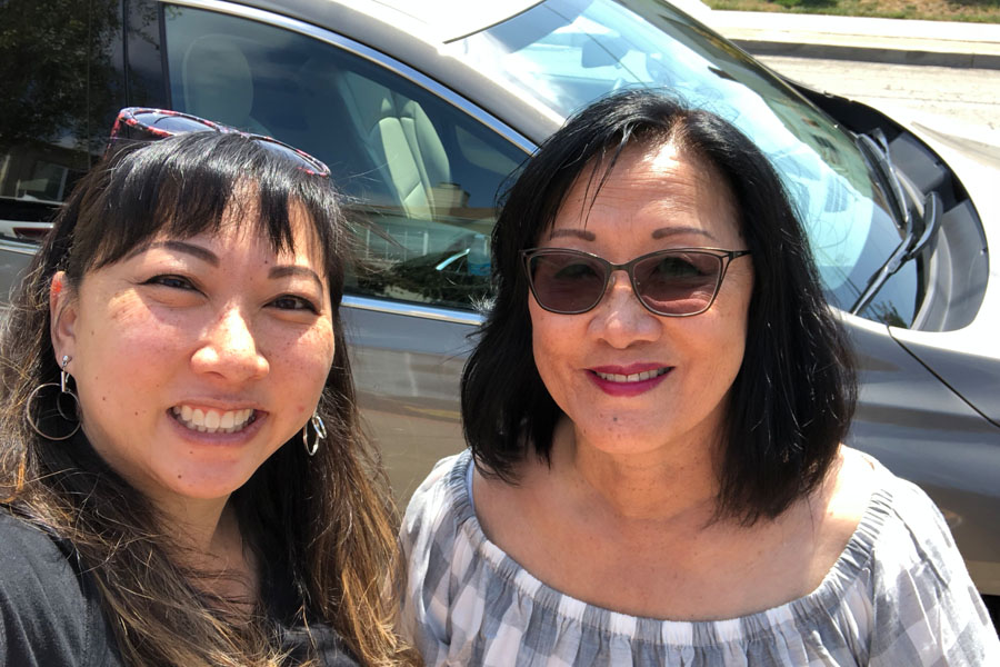 Mother Daughter Road Trip to Monterey in the 2018 Buick Enclave - asian women selfie