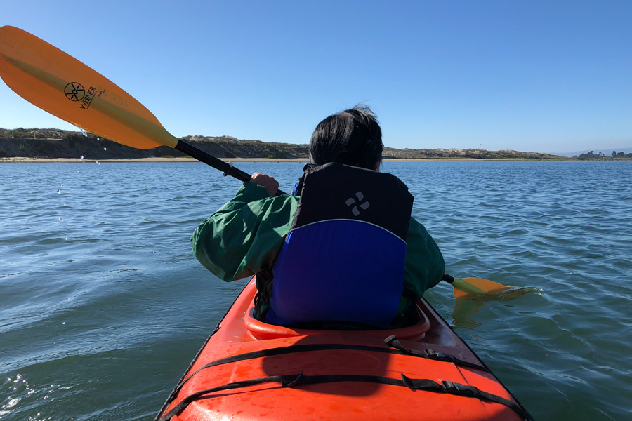 Mother Daughter Road Trip to Monterey in the 2018 Buick Enclave - Kayaking at Moss Landing