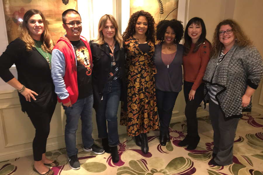 Spider-Man: Into the Spider-Verse Interview with Luna Lauren Valez and Christina Steinberg.