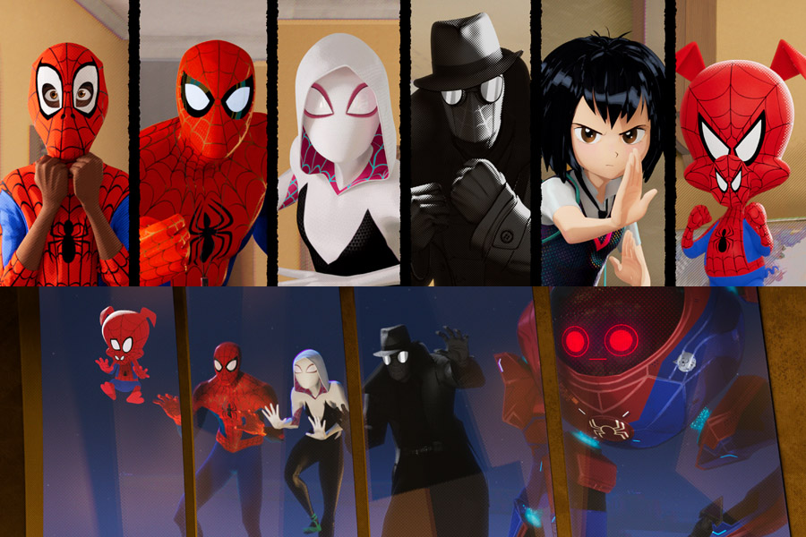 Spider-Man: Into the Spider-Verse Interview with Shameik Moore, Jake Johnson, Luna Lauren Valez, Christina Steinberg, Phil Lord, and Chris Miller.