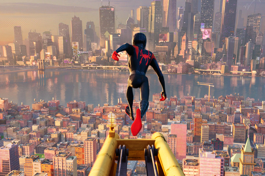 Spider-Man: Into the Spider-Verse Movie Review for Families. Miles Morales over New York